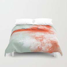 Frosted to Red Duvet Cover
