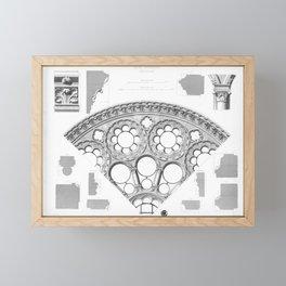 Notre Dame Rose Window Facade Architecture Framed Mini Art Print