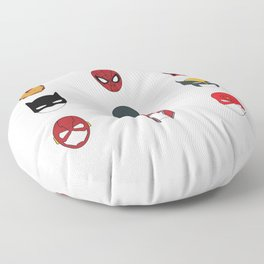 Superhero Masks 3 Floor Pillow