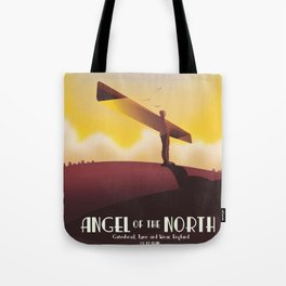 Angel of the North Travel poster. Tote Bag