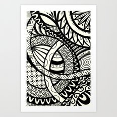 Zentangle design Art Print
