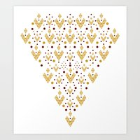 Geometric Diamond Art Print