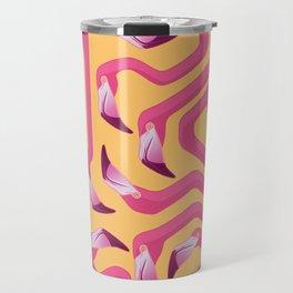 Flamingo Maze Travel Mug