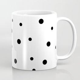 Seamless Black Dots Pattern Coffee Mug