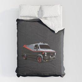 The A Team van illustration Comforters