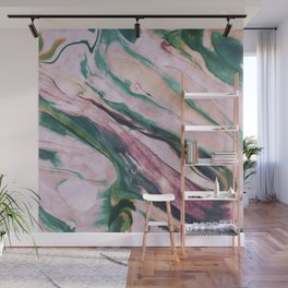 Pastel, light colored, pink, marble design Wall Mural
