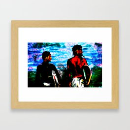 right side Framed Art Print