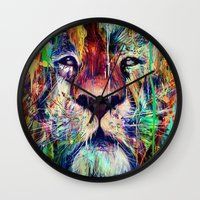 lion Wall Clocks featuring Lion by nicebleed