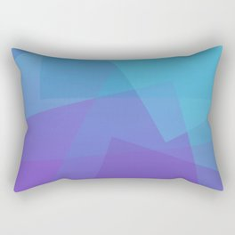 Purple Geometry Rectangular Pillow