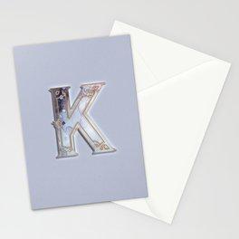 K letter monogram Stationery Cards