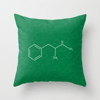 breaking bad Throw Pillows featuring Breaking Bad by Karolis Butenas
