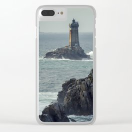 Lighthouse, Bretagne, France Clear iPhone Case