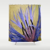 text Shower Curtains featuring Corn Text by J Coe Photography