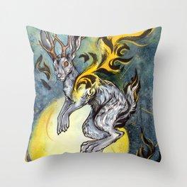 the Jackalope Throw Pillow