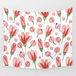 Red flowers Nature Wall Tapestry