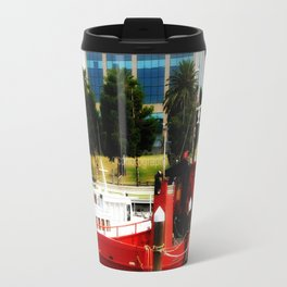 Little red tug Boat Travel Mug