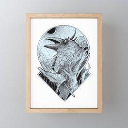 Crow Framed Mini Art Print