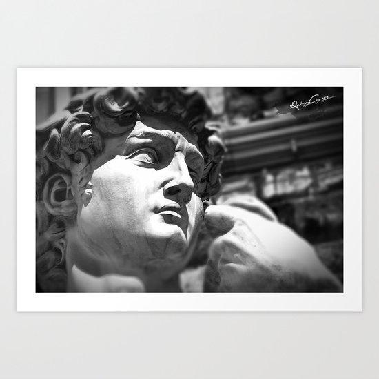 the David's face, Florence Tuscany Art Print