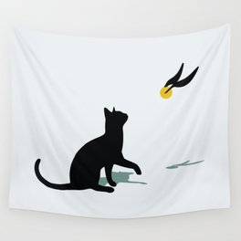 Cat and Snitch Wall Tapestry