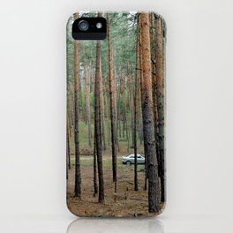Forest & Car iPhone Case