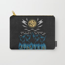 Sun Strike Over The Mountains Carry-All Pouch
