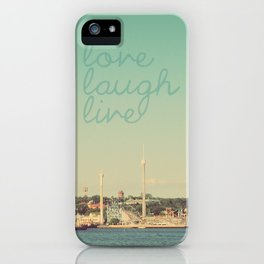 Love Laugh Live Stockholm iPhone Case