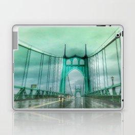 St John's Bridge Portland Oregon Laptop & iPad Skin