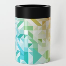 Colorful Geometric Pattern Saturated Rainbow Pattern Design (Red Pink Orange Yellow Green Blue) Can Cooler