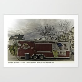Providence Postcard Project: Johnny's Chimi's Place Truck, Lower South Art Print