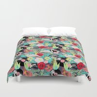 rockabilly Duvet Covers featuring rockabilly mix by kociara