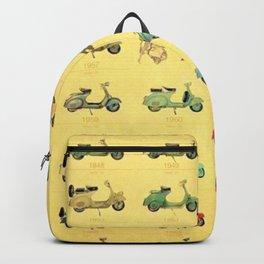 1969 Vintage Vespa Motor Scooter 1946 to 1969 Advertisement Model Poster Backpack