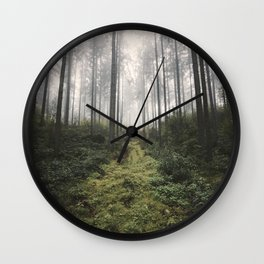 Unknown Road - landscape photography Wall Clock