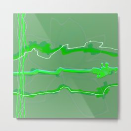 Fluffy lines twisting and turning no. 17 Metal Print