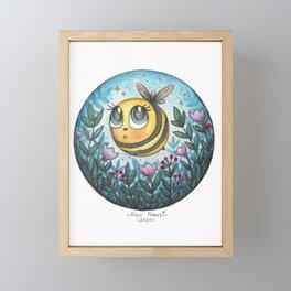 Cute Bee Framed Mini Art Print