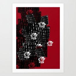 Chinese wall flowers Art Print