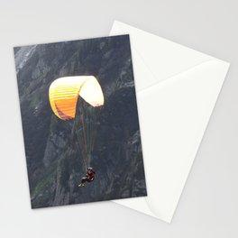 Parachute in Chamonix Stationery Cards