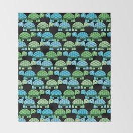 Turtle Pattern (Black/Blue/Green) Throw Blanket