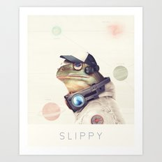 Star Team - Slippy Art Print
