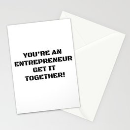 Motivation for the entrepreneur Stationery Cards