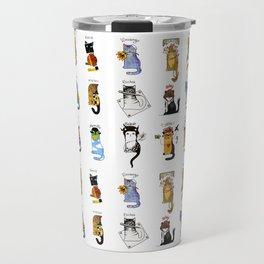 Legendary Art cats - Great artists, great painters. Travel Mug