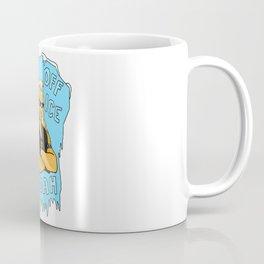 "Dog says, ""Stay Off the Ice, Bruddah"" Coffee Mug"
