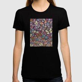 butterflies aflutter rosy pastels version T-shirt