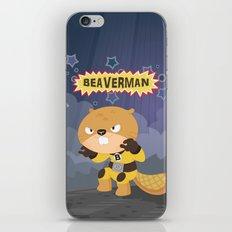 The incredible Beaverman iPhone & iPod Skin