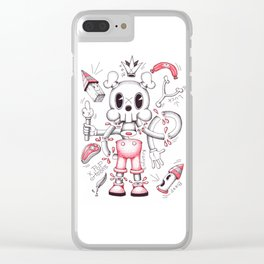 Skulltoons No.4 Clear iPhone Case