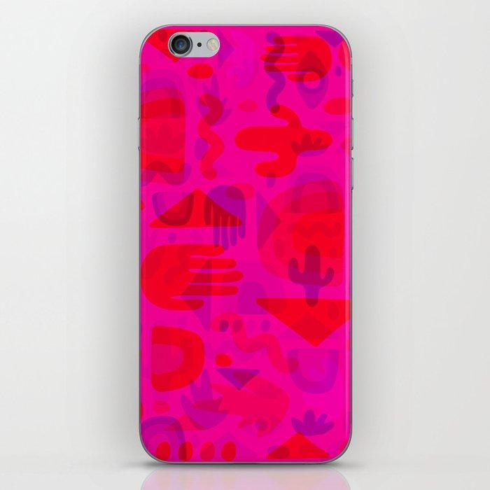 Neon Cutout Print iPhone Skin