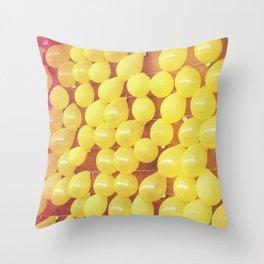 Yellow Balloons POP Art Throw Pillow