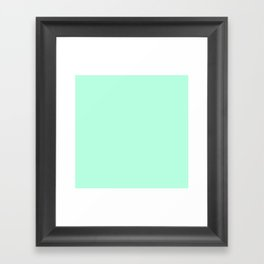 SOLID MINT Framed Art Print