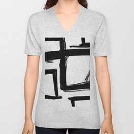 Squares Without a Care Unisex V-Neck