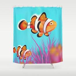 Clown Fish Aquarium Shower Curtain