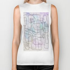 maze with swirls Biker Tank